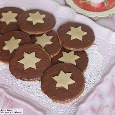 Galletas con estrellas de mazapán, receta de Navidad