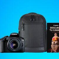 Este kit con la Canon EOS 2000D, objetivo, mochila y tarjeta de memoria sólo cuesta 349 euros en El Corte Inglés
