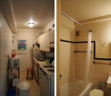 Antes y después: Dos estudios convertidos en un apartamento en el Upper West Side de Nueva York