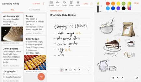Samsung Notes app se actualiza con soporte para Android 7.0 Nougat