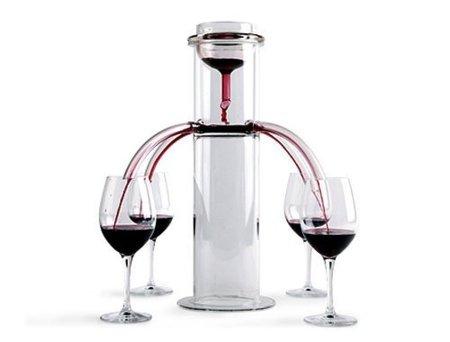 Decantador de vino para cuatro copas