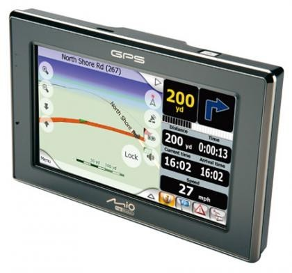 Mio DigiWalker C520, GPS de gran pantalla