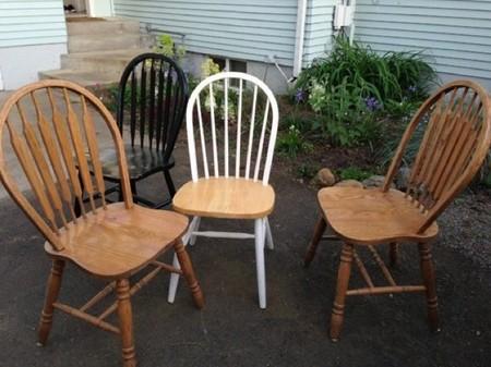 Antes y después: renovando sillas para el verano con un toque de color