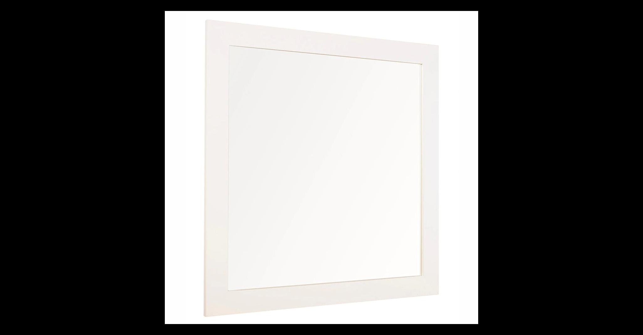 Espejo de baño Roma blanco 100 x 80 cm