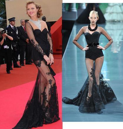 Eva Herzigova: cómo vestir un diseño de Dior dos meses antes de que salga