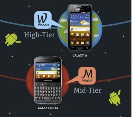 Samsung Galaxy W y Samsung Galaxy M Pro, la nueva gama alta y media de los Galaxy