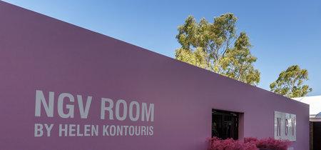 Arquitectura efímera: el Ultra Violet protagonista del diseño de un stand en el Open de Australia