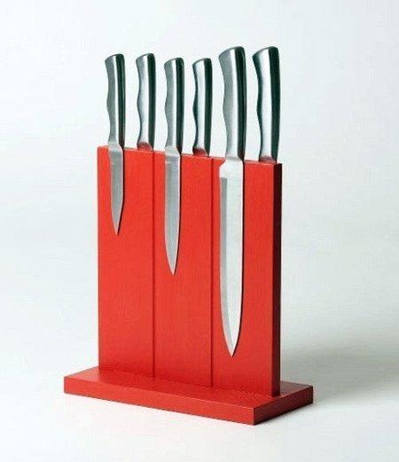 Bloque magnético para colocar cuchillos
