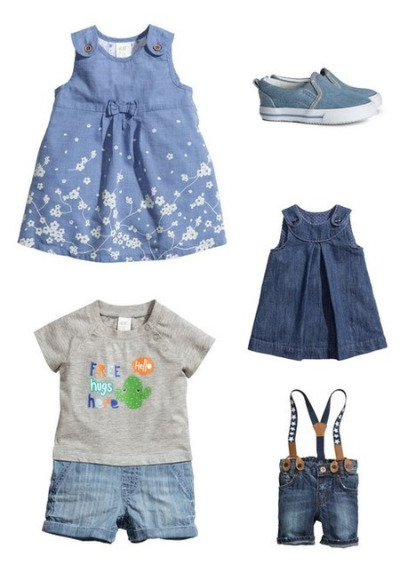 ropa bebés niño y niña denim hym