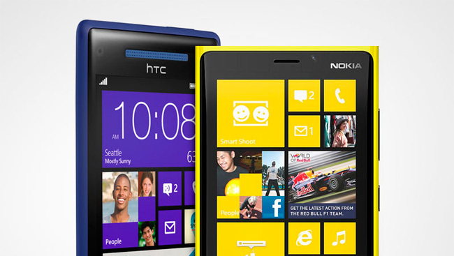 Lumia 920 y HTC 8X