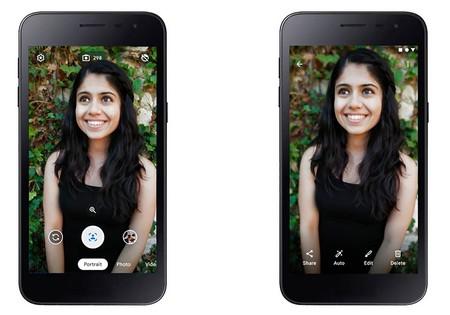 Modo Retrato en móviles con Android Go