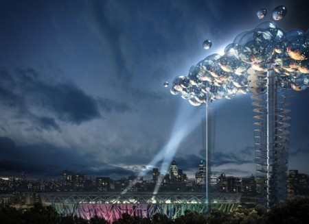 Imagen de la semana: pantalla flotante en Londres 2012