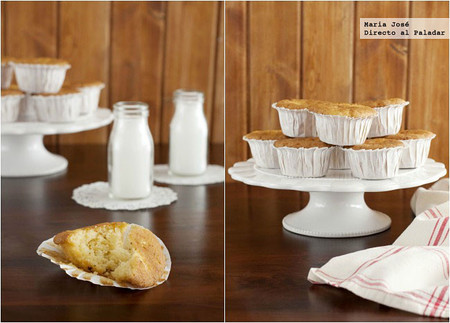 Magdalenas de chocolate blanco, receta para un desayuno o merienda de capricho