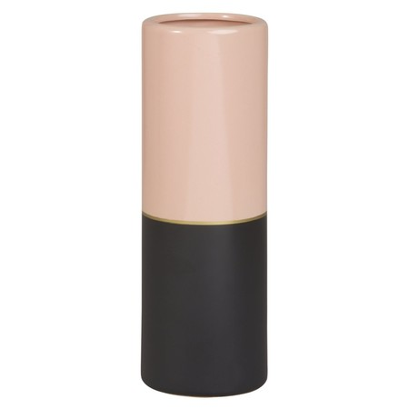 Jarron De Ceramica Rosa Y Dorada Alt 30 1000 11 8 179055 1