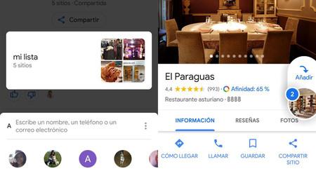 Google Maps estrena un nuevo modo de compartir muchos sitios fácilmente y votar en grupo