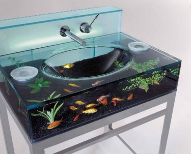 Moody Aquarium Sink, un lavabo acuario lleno de vida