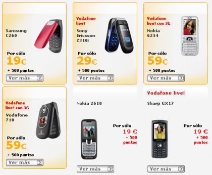 vodafone catalogo puntos: