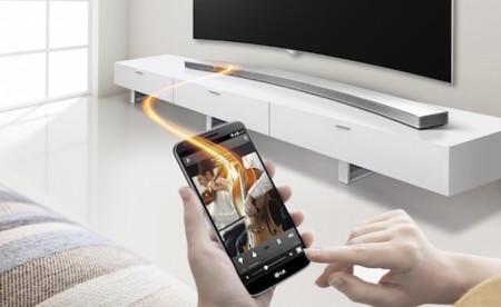 LG también tiene una barra de sonido diseñada para nuestro televisor curvo