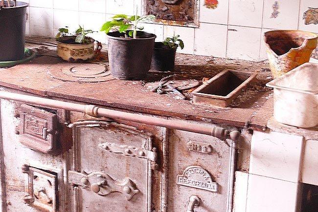 La historia del fuego en la cocina - cocina económica de hierro