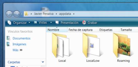 Borrar el perfil de Firefox en Windows Vista