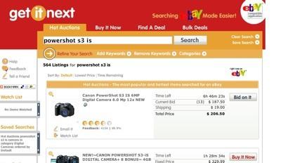 GetItNext, buscando cómodamente productos de eBay
