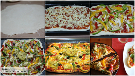 pizza de colores paso a paso
