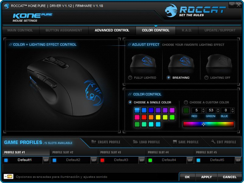 Foto de Roccat Kone Pure, software (4/6)