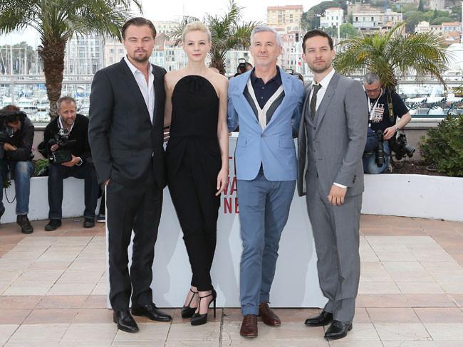 Leonardo DiCaprio, Carey Mulligan, Baz Luhrmann y Tobey Maguire