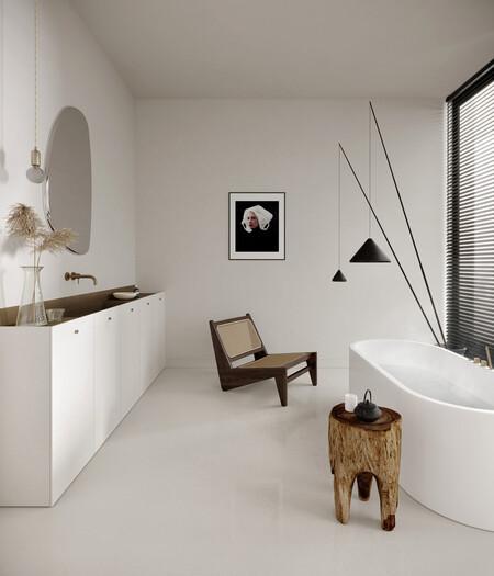 Cuartos de baños sin azulejos; ventajas, inconvenientes e inspiración para nuestros baños