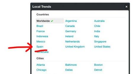 Twitter ya incorpora oficialmente la lista de los trending topic españoles