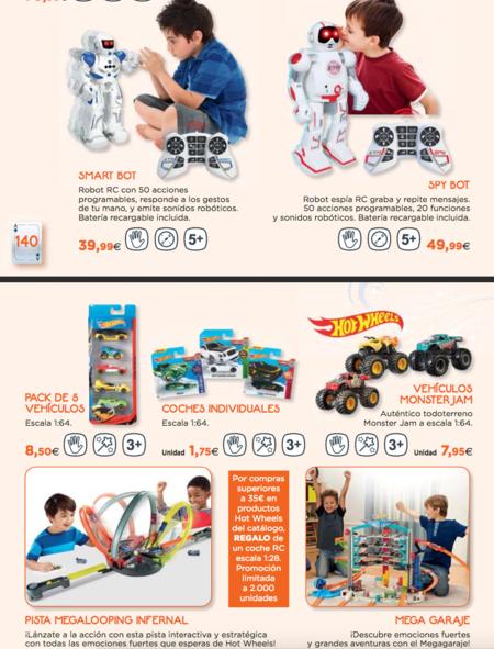 página de catálogo de juguetes