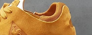Un mix de texturas y un color único: zapatilla LCS R Pure en Sudan Brown de Le Coq Sportif