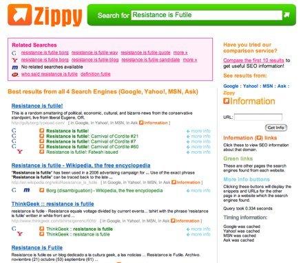 Zippy, un buscador para webmasters