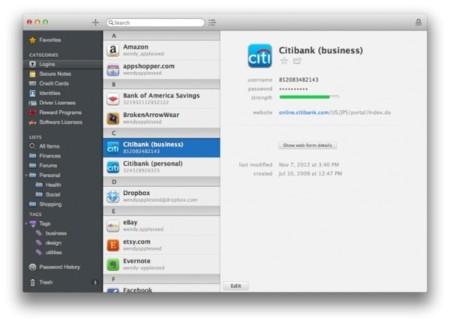 1password 4 para Mac se acerca con importantes mejoras
