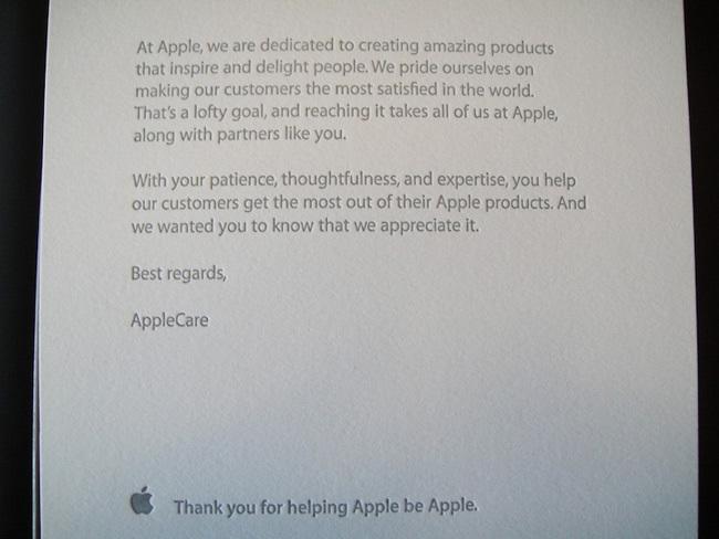 Caja de bienvenida a los Apple Advisors