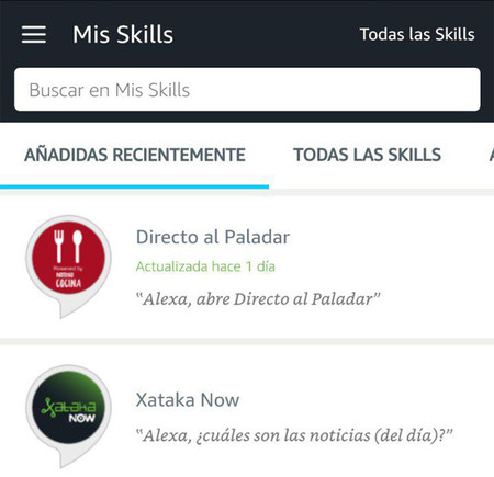 Skills Alexa Sp