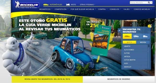 Promoción neumáticos y guía verde Michelin