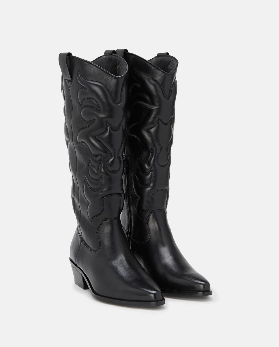 Botas de mujer Zendra Basic tipo cowboy en color negro