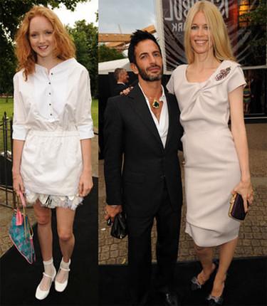 Lily Cole y Claudia Schiffer en la fiesta de Louis Vuitton