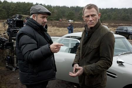 Sam Mendes y Daniel Craig en el rodaje de Skyfall