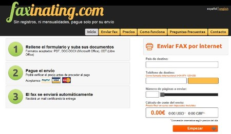 faxinating, un servicio de envío de fax online muy sencillo