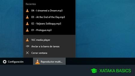 Cómo ocultar los elementos recientes en los iconos de la barra de tareas de Windows 10