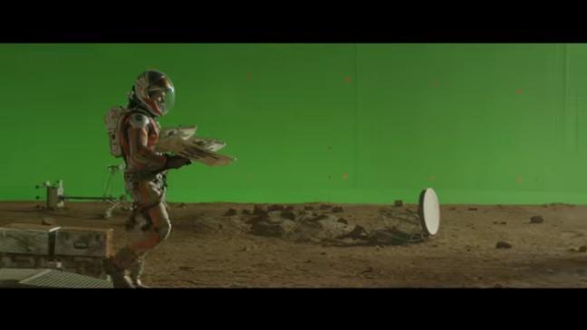 'Marte (The Martian)', antes y después de aplicar los efectos visuales por ordenador