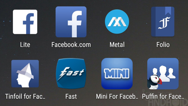 The 8 best applications to use Facebook without our Android go slow