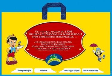 Promoción plátano de Canarias y Disney 2009