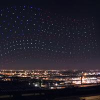 Sí, a Lady Gaga la acompañaron 300 drones de Intel para dibujar en el cielo en la Super Bowl, pero no fue en directo