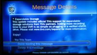 TiVo ya permite colocar un disco duro externo