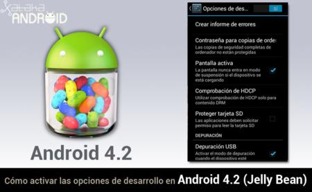 Cómo activar las opciones de desarrollo y Depuración USB en Android