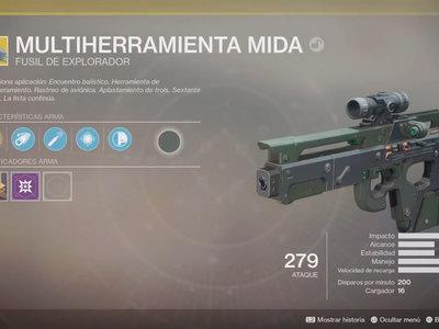 Destiny 2: cómo conseguir la Multiherramienta Mida