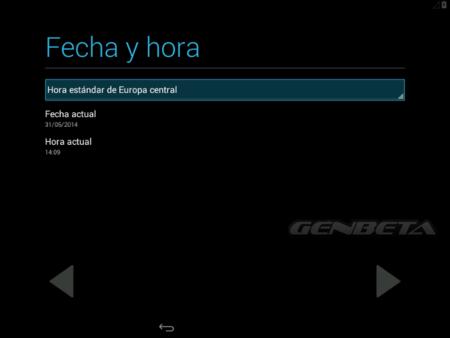 Android-x86, configuración de zona horaria